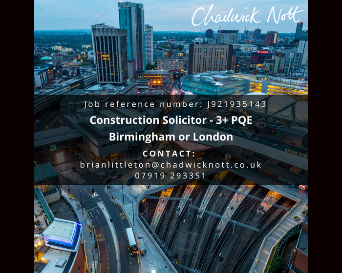 brian littleton job advertisement in-house construction lawyer in birmingham or london