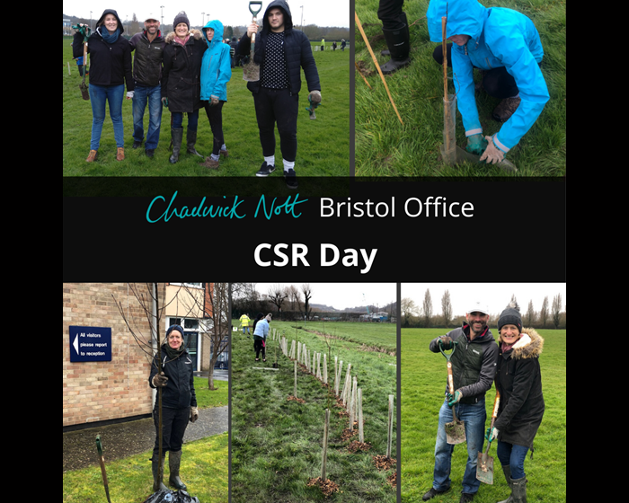 Chadwick Nott's Bristol office plants trees for its CSR day