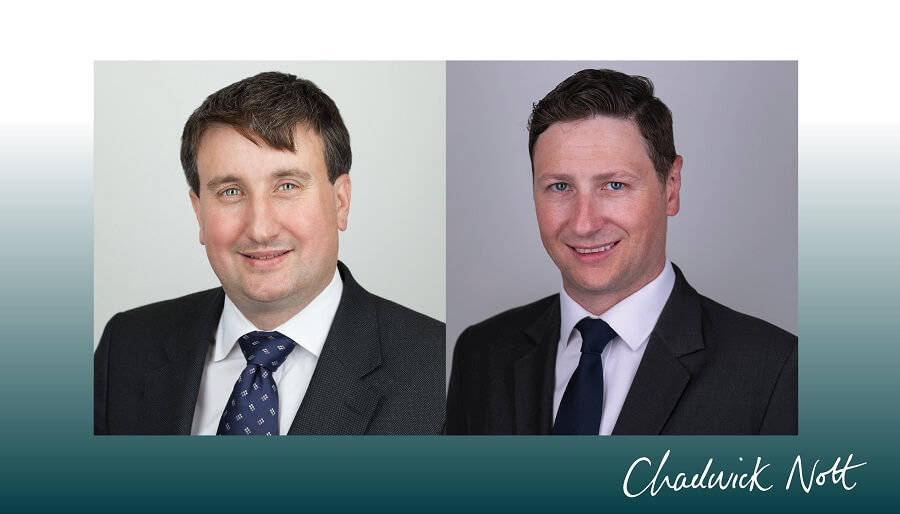 Brian Littleton and Grant Jackson In-house consultants - their head shots side by side with Chadwick Nott logo in bottom right corner