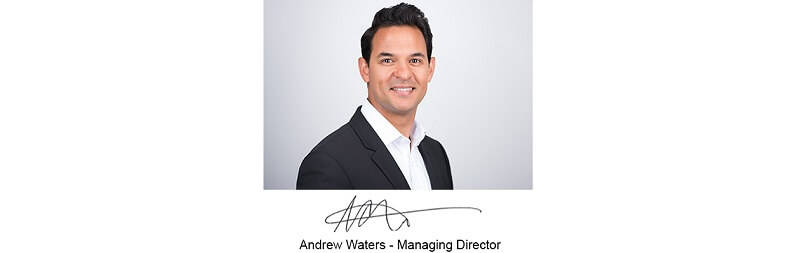 Chadwick Nott's managing director Andrew Waters with his signature below